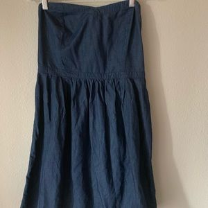Jean strapless dress